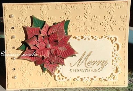Julekort med julestjerne