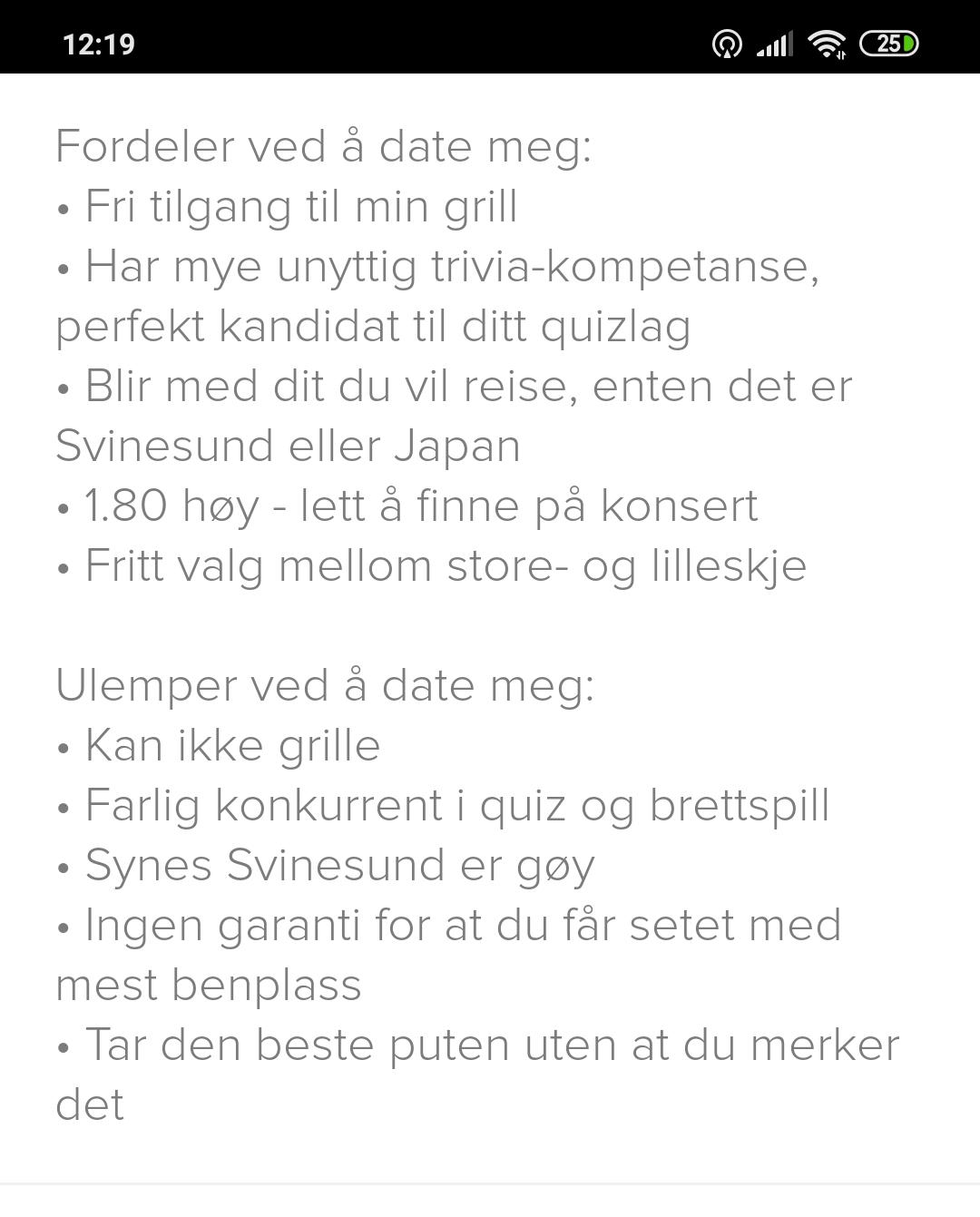 dating nettside profil skribent